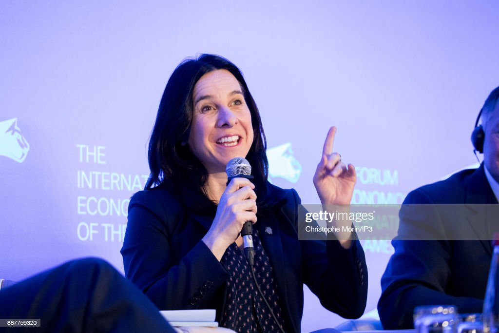 Valerie Plante Mayor, City of Montreal attends the first edition of the Conference of Paris of the International Economic Forum of the Americas, in Paris, on December 7, 2017 in Paris, France. IEFA organizes annual summits bringing together heads of states, central bank governors, ministers and global economic decision makers. This annual meeting focus on providing a better understanding of the major challenges facing the global economy, with particular attention to relations between Europe and other continents.