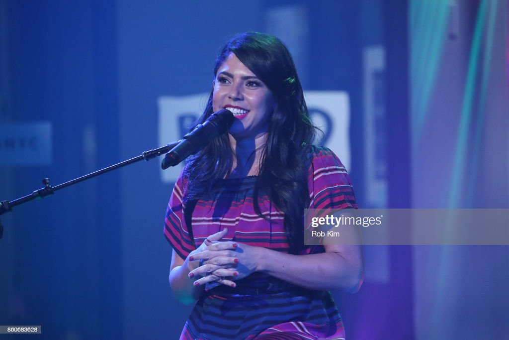Valerie Ponzio performs in concert at 'It's LIT!: A Night of Latinx Culture' during the Build Series at Build Studio on October 12, 2017 in New York City.