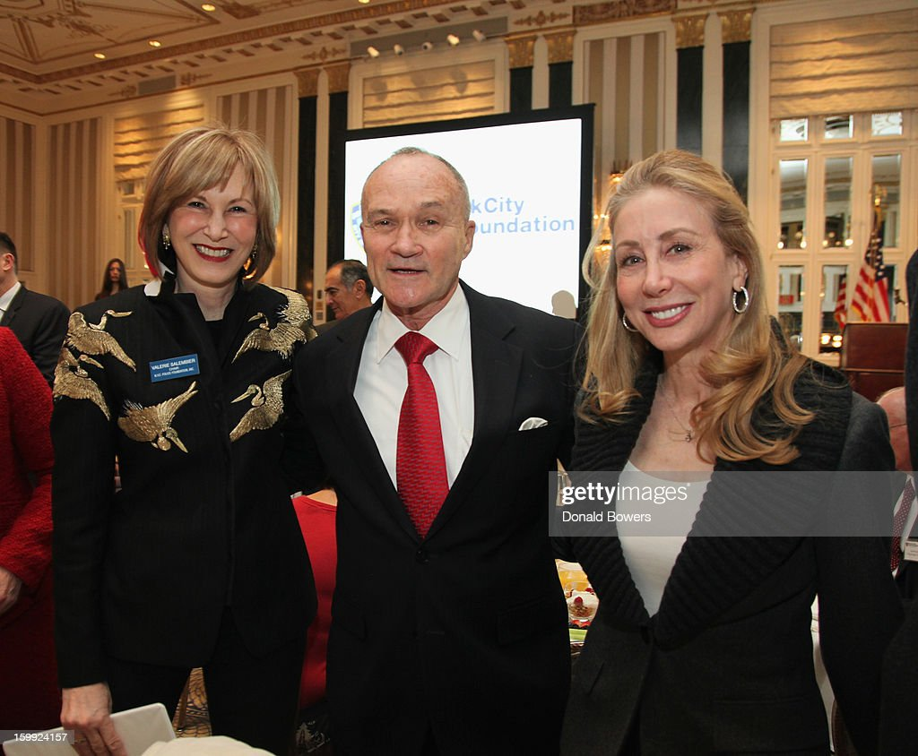 Valerie Salembier, Police Commissioner Ray Kelly and Sharon Loeb attend the State of the NYPD address during The N.Y.C Police Foundation Breakfast on January 23, 2013 at The Waldorf-Astoria Hotel in New York City.