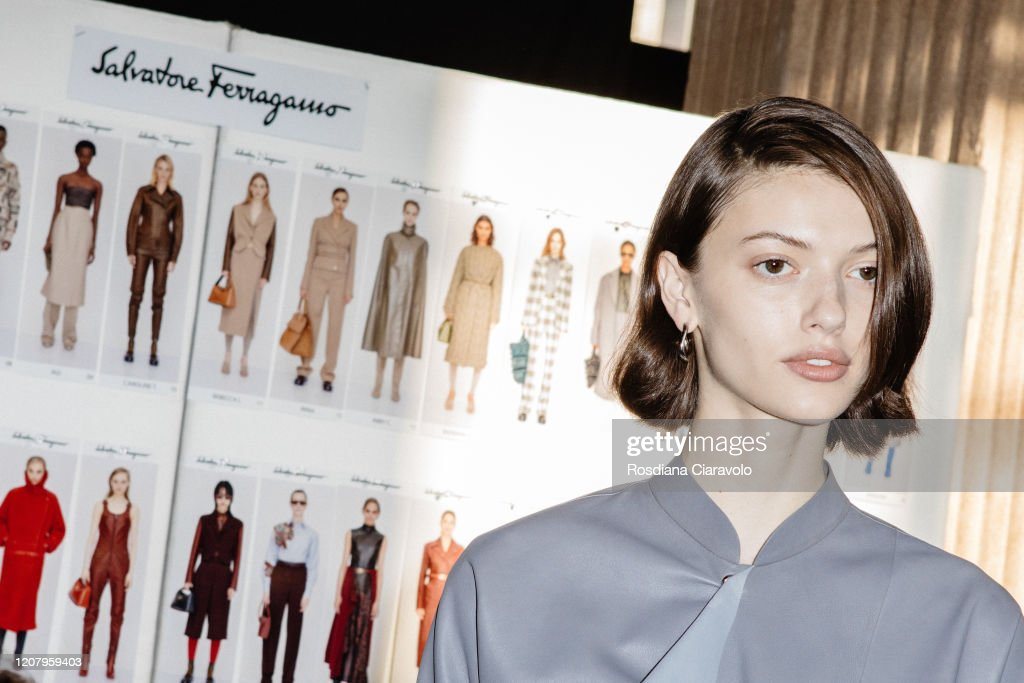 Salvatore Ferragamo - Backstage - Milan Fashion Week Fall/Winter 2020-2021 : ニュース写真