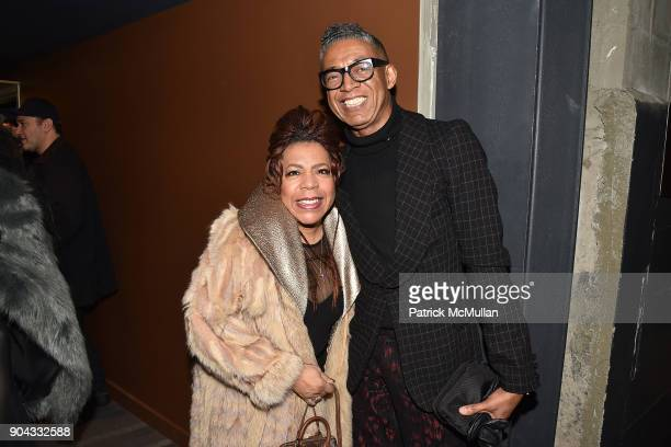Valerie Simpson and B Michael attend The Cinema Society Bluemercury host the premiere of IFC Films' 'Freak Show' at Landmark Sunshine Cinema on...