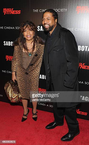 Valerie Simpson and Ray Simpson attend The Cinema Society with Muscle Fitness screening of Open Road Films' Sabotage at AMC Loews Lincoln Square on...