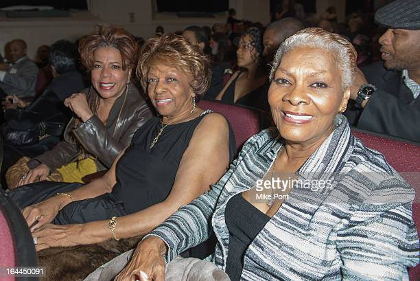 Valerie Simpson Cissy Houston and Dionne Warwick attend 'Mama I Want To Sing' 30th Anniversary Gala Celebration at The Dempsey Theatre on March 23...