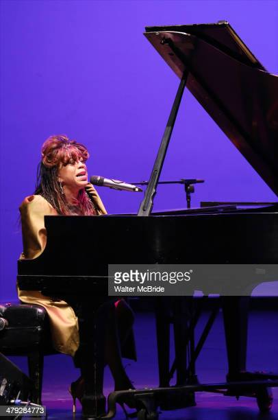 Valerie Simpson on stage at Woodie King Jr's New Federal Theatre 44th Anniversary Gala honoring Voza Rivers at BMCC Tribeca Performing Arts Center on...