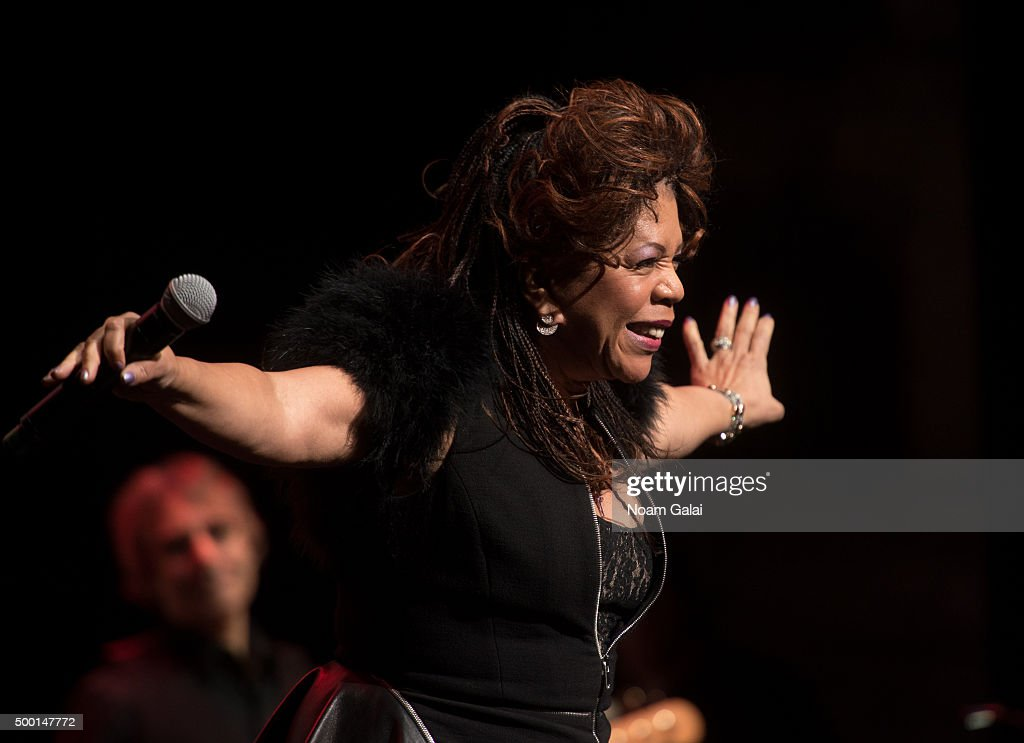 Valerie Simpson performs at the 5th Annual 'Cyndi Lauper and Friends: Home For The Holidays' benefit concert at The Beacon Theatre on December 5, 2015 in New York City.