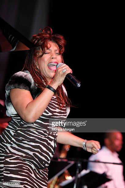 Valerie Simpson performs during the 2014 Congressional Black Caucus Jazz Concert at Walter E Washington Convention Center on September 25 2014 in...