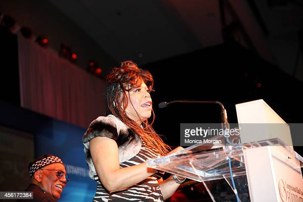 Valerie Simpson speaks during the 2014 Congressional Black Caucus Jazz Concert at Walter E Washington Convention Center on September 25 2014 in...