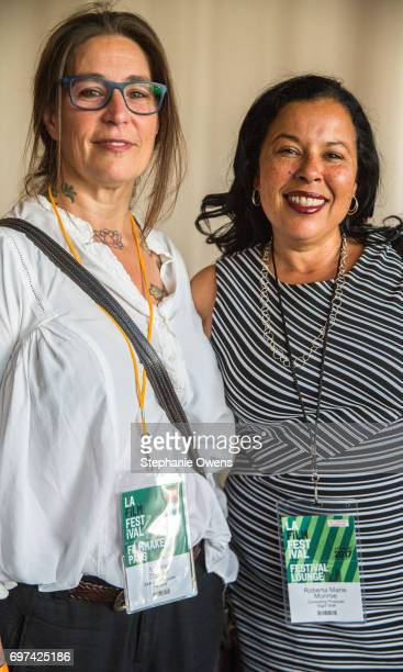 Valerie Stadler and Roberta Marie Munroe attend the Women Filmmakers Event during 2017 Los Angeles Film Festival at Festival Lounge on June 16 2017...