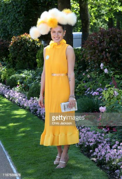 Valerie Stark attends day five of Royal Ascot at Ascot Racecourse on June 22 2019 in Ascot England