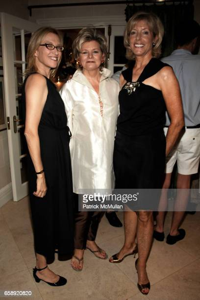 Valerie Steele Charlotte Moss and Liz Peek attends The Museum at FIT Annual Couture Council Summer Party at the Private Residence of Charlotte Moss...