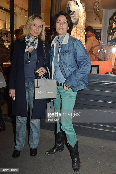 Valerie Steffen and Delphine Malachard de Turckheim attend the 'J'aime Ton Mari' Sylvie Bourgeois Harel Book Reading Cocktail at La Fee Maraboutee...