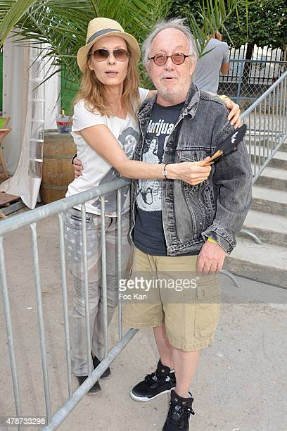 Valerie Steffen and Rocky Rock Hair attend 'Fete des Tuileries' Launch Party To Benefit Meghanora Association on June 26 2015 in Paris France