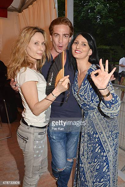 Valerie Steffen Ludovic Chancel and Sylvie Ortega Munos attend 'Fete des Tuileries' Launch Party To Benefit Meghanora Association on June 26 2015 in...