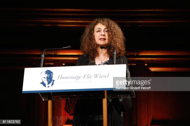 Valerie Toranian attends the Tribute to ELie Wiesel by Maurice Levy X Publicis Group at La Sorbonne on January 29 2018 in Paris France