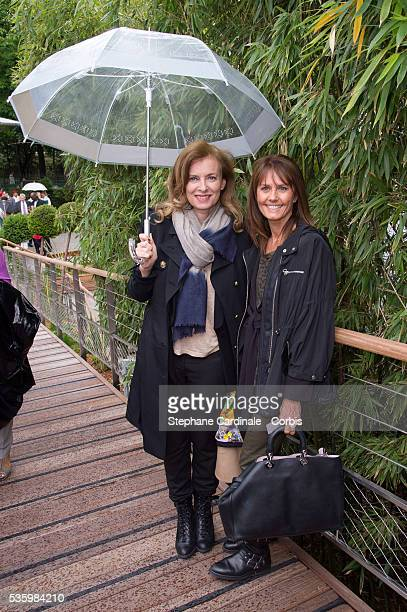 Valerie Trierweiler and Isabelle Chalencon attend the Roland Garros French Tennis Open 2014.