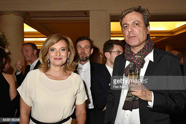 Valerie Trierweiler and Jean Noel Mirande attend 22th Amnesty International France Gala at Theatre des Champs Elysees on June 28 2016 in Paris France