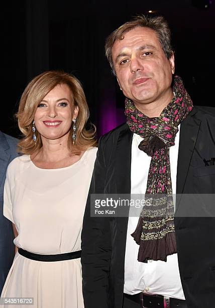 Valerie Trierweiler and journalist Jean Noel Mirande attend 22th Amnesty International France Gala at Theatre des Champs Elysees After Party at...