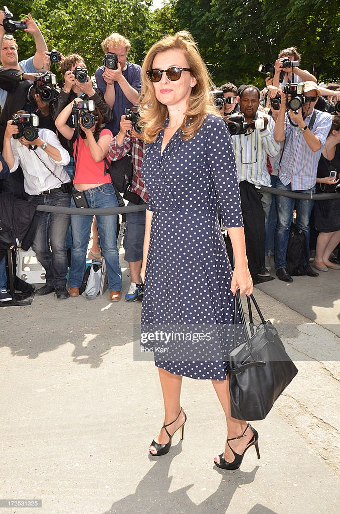 Valerie Trierweiler attends the Chanel show as part of Paris Fashion Week Haute-Couture Fall/Winter 2013-2014 at the Grand Palais on July 2, 2013 in Paris, France.