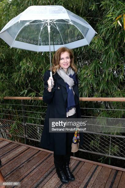 Valerie Trierweiler attends the Roland Garros French Tennis Open 2014 Day 11 on June 4 2014 in Paris France