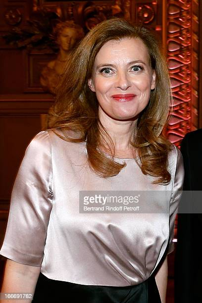 Valerie Trierweiler attends Tricentenary of the French dance school AROP Gala at Opera Garnier on April 15 2013 in Paris France
