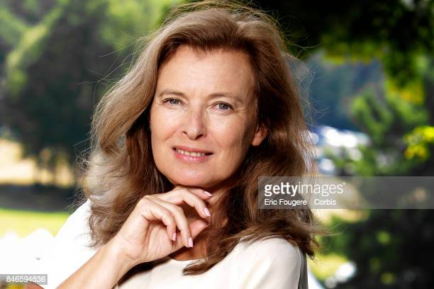 Valerie Trierweiler poses during a portrait session in Paris France on