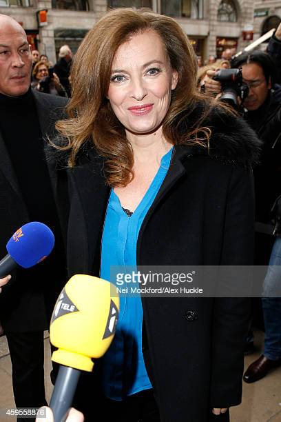 Valerie Trierweiler seen arriving at Hatchards Bookshop Picadilly for her booksigning on November 25 2014 in London England Photo by Neil...