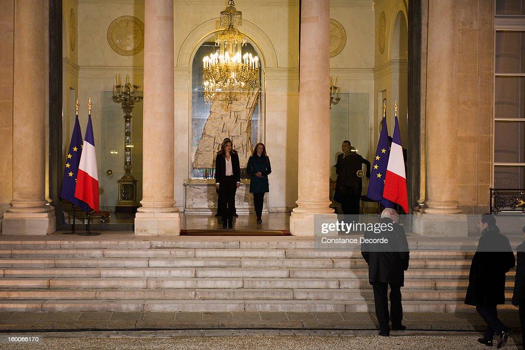 President Francois Hollande Hosts Reception For Florence Cassez