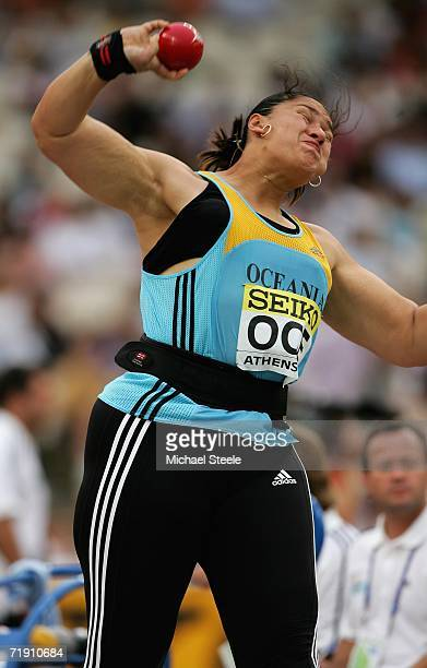 Valerie Vili of New Zealand throws the Shot Put during the 10th IAAF World Cup in Athletics on September 17 2006 at the Olympic Stadium in Athens...