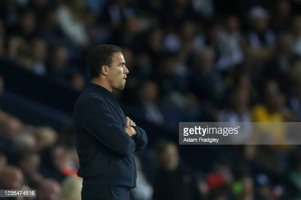 Valerien Ismael Head Coach / Manager of West Bromwich Albion during the Sky Bet Championship match between West Bromwich Albion and Queens Park...