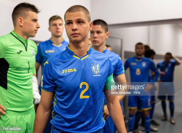 Valerii Bondar of Ukraine looks on in the players tunnel prior to the 2019 FIFA U-20 World Cup group D match between Ukraine and USA at Bielsko-Biala...
