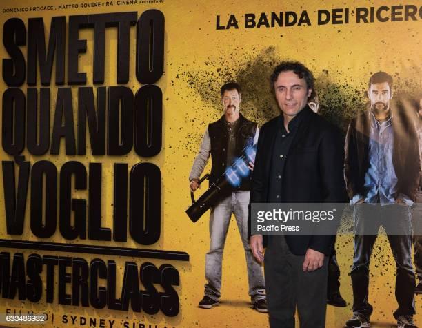 """Valerio Aprea attends a Red Carpet for """"Smetto quando voglio - Masterclass""""."""