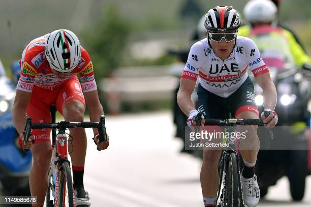 Valerio Conti of Italy and UAE - Team Emirates / Fausto Masnada of Italy and Team Androni Giocattoli - Sidermec / during the 102nd Giro d'Italia...