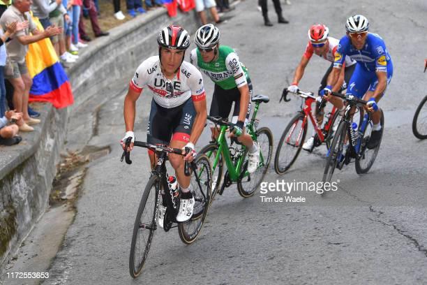 Valerio Conti of Italy and UAE Team Emirates / Fernando Barcelo Aragon of Spain and Team Euskadi Basque Country-Murias / Tim Declercq of Belgium and...