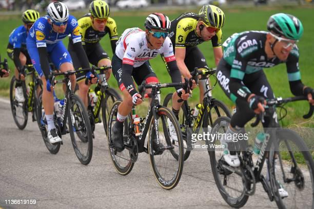Valerio Conti of Italy and UAE Team Emirates / Luke Durbridge of Australia and Team Mitchelton - Scott / during the 54th Tirreno-Adriatico 2019,...