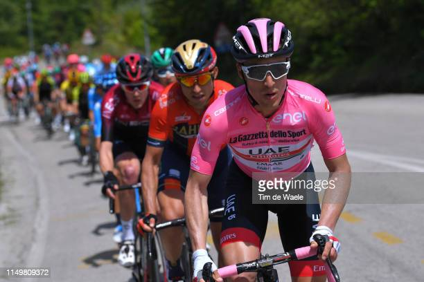 Valerio Conti of Italy and UAE - Team Emirates Pink Leader Jersey / during the 102nd Giro d'Italia 2019, Stage 7 a 185km stage from Vasto to L'Aquila...