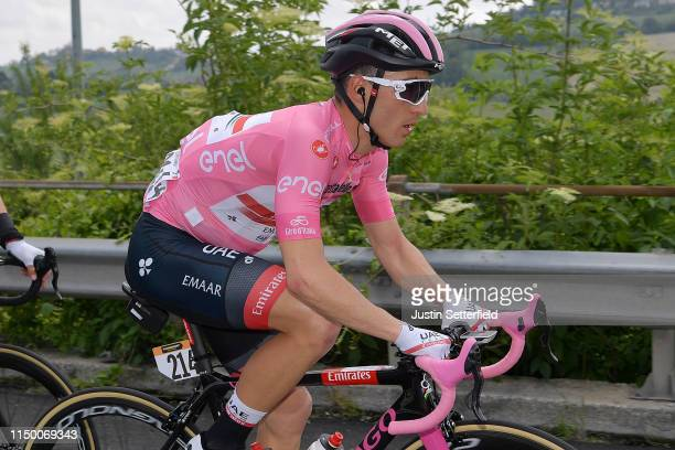Valerio Conti of Italy and UAE - Team Emirates Pink Leader Jersey / during the 102nd Giro d'Italia 2019, Stage 8 a 239km stage from Tortoreto Lido to...