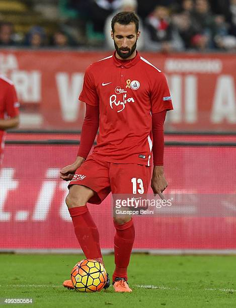 Valerio Di Cesare of AS Bari in action during a tornemnt between FC Internazionale AC Milan and AS Bari at Stadio San Nicola on November 24 2015 in...