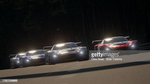 Valerio Gallo of Italy in action during the Nations Cup grand final of the FIA Gran Turismo World Tour 2020 Finals run at the virtual Le Mans...
