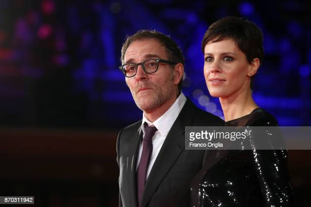 Valerio Mastandrea and Valentina Avenia walk a red carpet for 'The Place' during the 12th Rome Film Fest at Auditorium Parco Della Musica on November...
