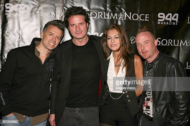 Valerio Ventura Max Noce Nadia Lanfranconi and Seth Mackin attend Sorum Noce's Summer Style Series at Les Deux on July 23 2008 in Los Angeles