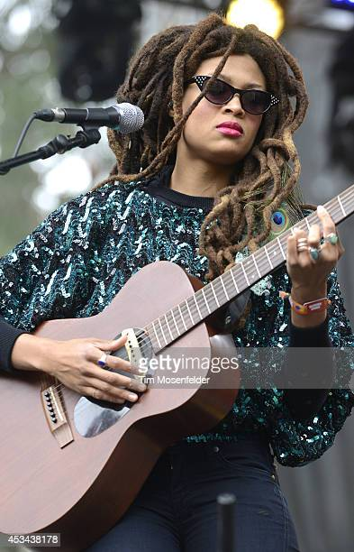 Valerioe June performs during the Outside Lands Music Festival at Golden Gate Park on August 9 2014 in San Francisco California