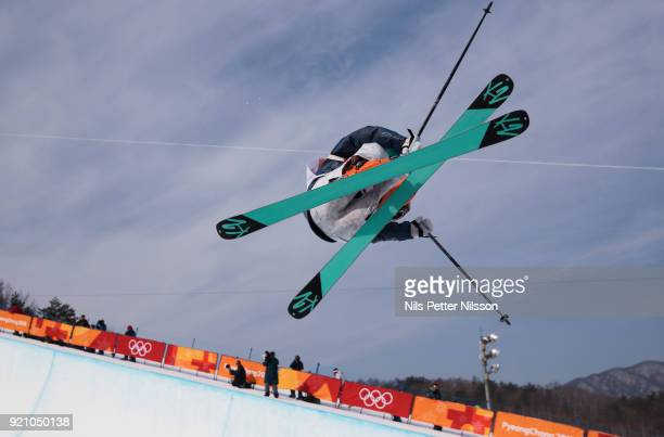 Valeriya Demidova of Olympic Athletes of Russia during the women's Halfpipe Freestyle Skiing at Phoenix Snow Park on February 20 2018 in...