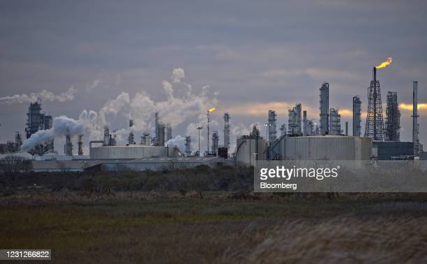 Valero Energy Corp. Refinery in Corpus Christi, Texas, U.S., Friday, Feb. 19, 2021. Natural gas futures fluctuated Friday as an energy crisis...