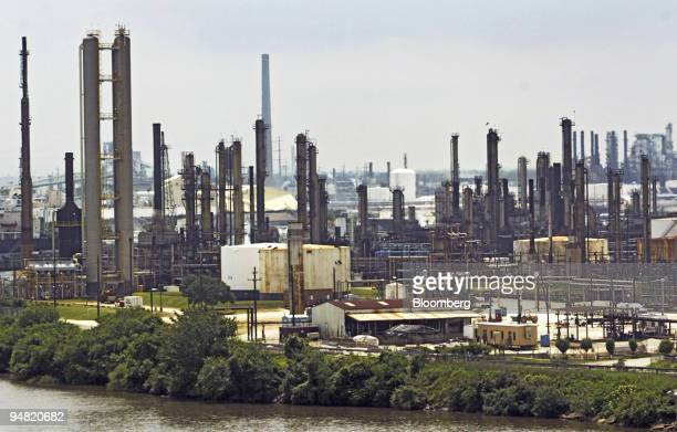 Valero Energy Corp.'s refinery is pictured in Pasadena, Texas Wednesday, June 2, 2004.
