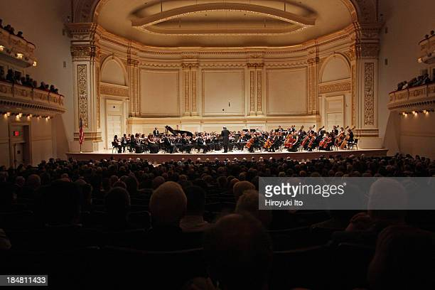 Valery Gergiev leading the Mariinsky Orchestra in an allStravinsky program at Carnegie Hall on Thursday night October 10 2013