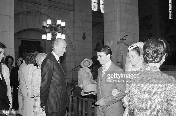 Valery Giscard D'Estaing And His Wife AnneAymone Guests Of Honour In A Marriage En juin 1981 Valéry GISCARD D'ESTAING est témoin et invité d'honneur...