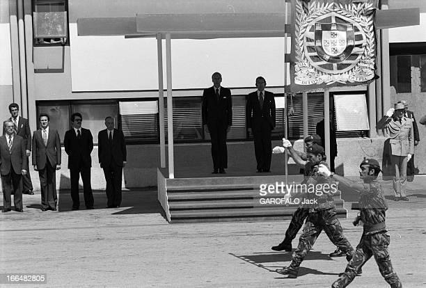 Valery Giscard D'Estaing And His Wife To Visit Portugal Le 22 juillet 1978 au Portugal dans le cadre d'un voyage officiel le président de la...