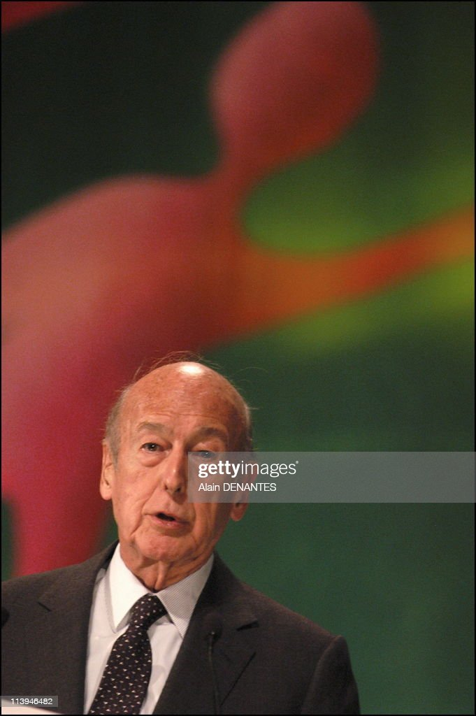 Valery Giscard d'Estaing at the 101th congress of notaries of France In Nantes, France On May 04, 2005-Valery Giscard d'Estaing closed the Congress of Notaries of France by a speech and a debate on the European Constitution. He spoke at length on constitutional issues and has defended the yes in the referendum.