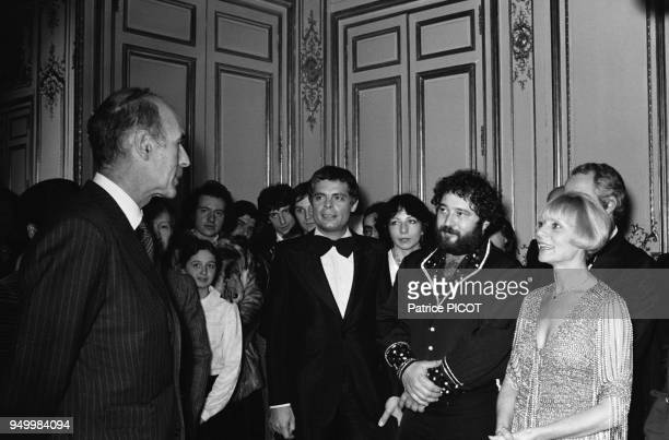 Valery Giscard d'Estaing Gerard Majax and Annie Cordy