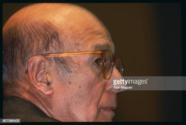 Valery Giscard d'Estaing is on the campaign trail for the French regional elections He is pictured here as he holds a meeting in the Jeanne d'Arc...